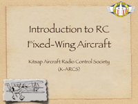 Intro to R/C Aircraft
